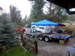 Rain on the trailer