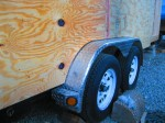 Plywood wheel well detail