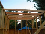 Sleeping loft joists, hitch end