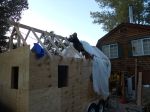Putting in a rafter, don't try this at home :)