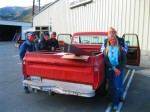 My roofing in the 69 chevy and the fellows at the hardware store