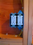 Kitchen outlets. I remember there being a sensible reason as to why they're upside down...