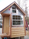 Siding on the front!