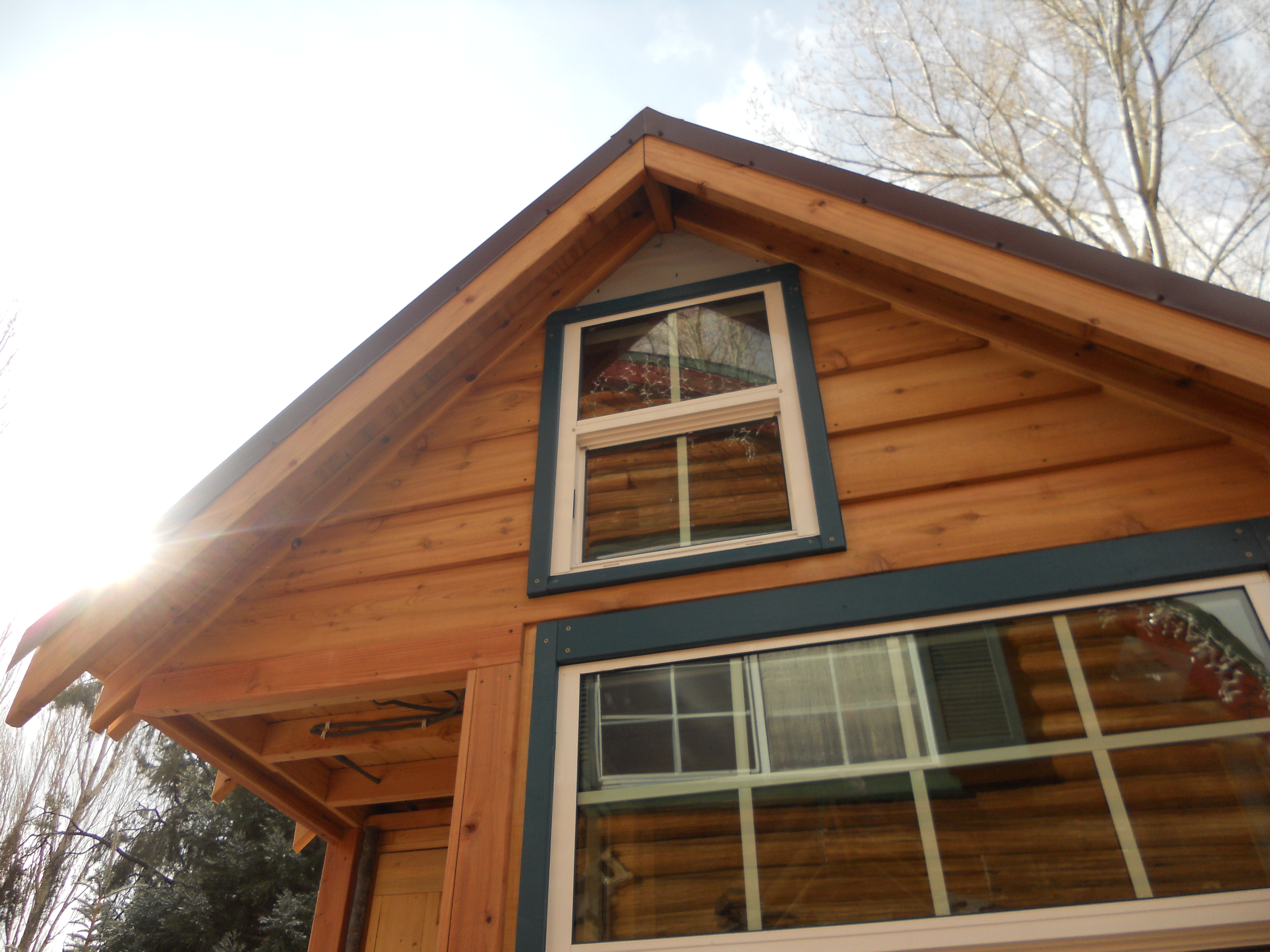 Cedar siding littleyellowdoor for Wood house images
