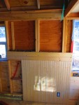 Off-side wainscoting and the start of horizontal paneling