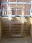 Bench frame turned vertically