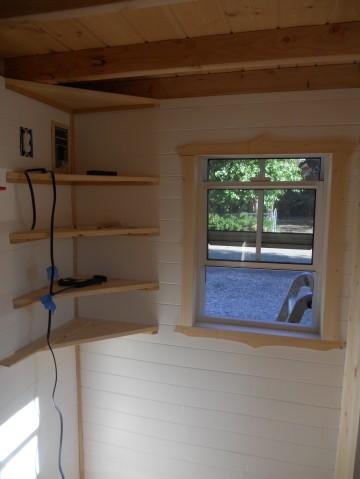 Of corner shelves and window trim… | littleyellowdoor