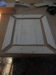 About to put a door together. This part was a beast. Battling, persuading and cussing were required