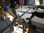 Two clamps for the length, two for the width. My dad must be right, you never can have too many clamps