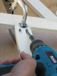 "Putting 1"" screws into the Kreg jig drill hole"