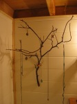 Manzanita branch I found a while back. Perfect for hanging light things