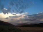 Dramatic fall sky