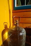 The beautiful 3 gallon water jug carrier Zac made from copper :) I LOVE it
