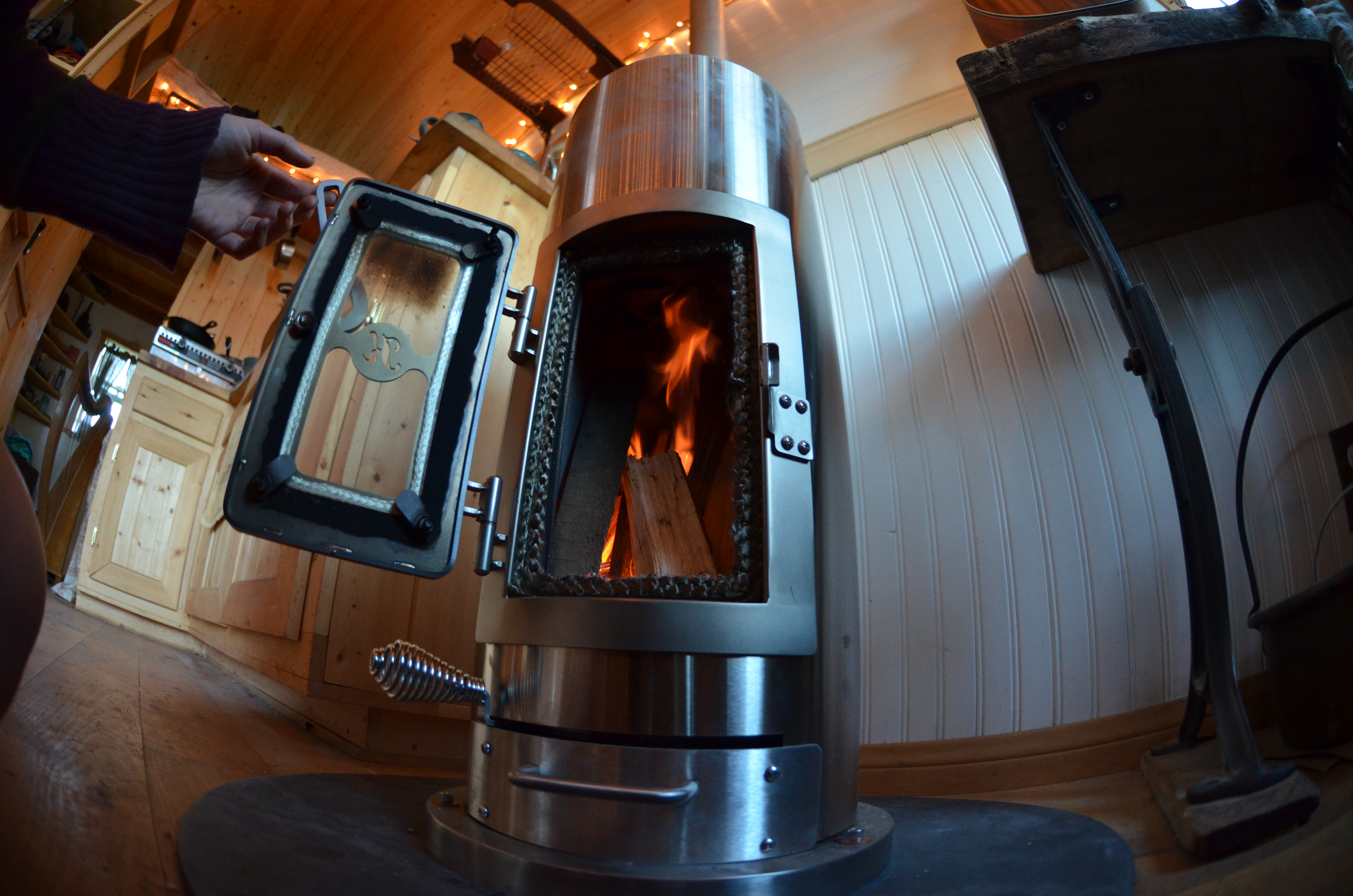 A tiny wood stove for a tiny house… | littleyellowdoor