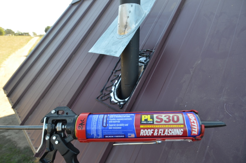 Fancy roof flashing tar stuff
